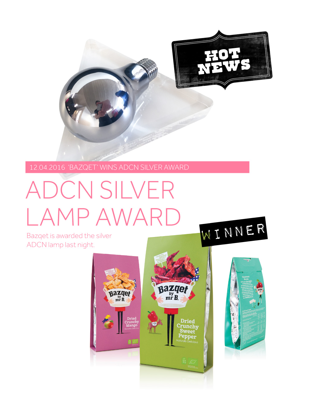 Bazqet is Winner of Silver ADCN Lamp
